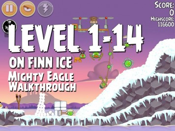 Angry Birds Seasons On Finn Ice 1-14 - Mighty Eagle
