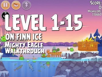 Angry Birds Seasons On Finn Ice 1-15 - Mighty Eagle