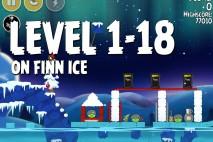 Angry Birds Seasons On Finn Ice Level 1-18 Walkthrough