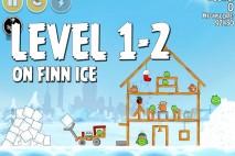 Angry Birds Seasons On Finn Ice Level 1-2 Walkthrough