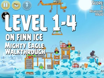Angry Birds Seasons On Finn Ice 1-4 - Mighty Eagle
