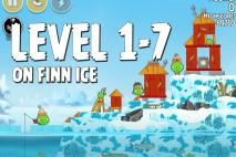 Angry Birds Seasons On Finn Ice Level 1-7 Walkthrough