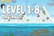 Angry Birds Seasons On Finn Ice Level 1-8 Walkthrough
