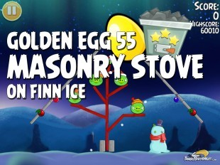 Angry Birds Seasons On Finn Ice Golden Egg #55 Walkthrough