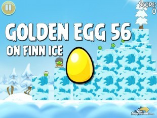 Angry Birds Seasons On Finn Ice Golden Egg #56 Walkthrough
