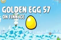 Angry Birds Seasons On Finn Ice Golden Egg #57 Walkthrough