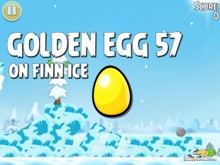 Angry Birds Seasons On Finn Ice Golden Egg #57 Walkthrough