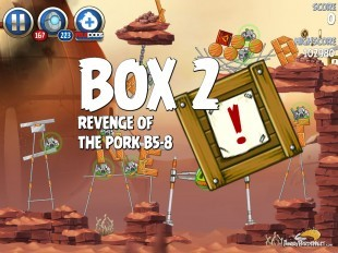 Angry Birds Star Wars 2 Revenge of the Pork B5-8 Bonus Box Walkthrough