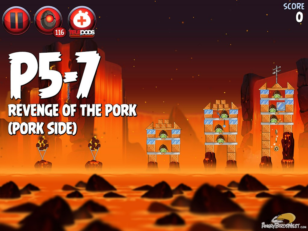 Angry birds star wars 2 revenge of the pork level p5 7 - Angry birds star wars 7 ...