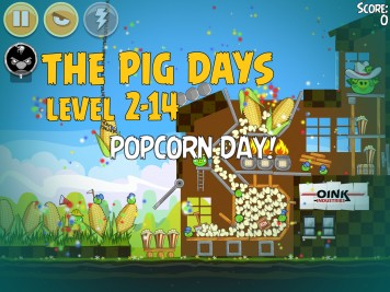 Angry Birds Seasons The Pig Days Level 2-14 Labeled