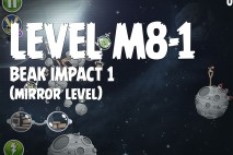 Angry Birds Space Beak Impact Mirror Level M8-1 Walkthrough