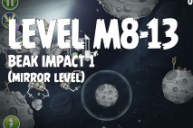 Angry Birds Space Beak Impact Mirror Level M8-13 Walkthrough
