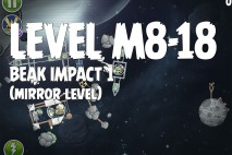 Angry Birds Space Beak Impact Mirror Level M8-18 Walkthrough