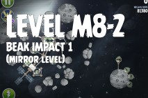 Angry Birds Space Beak Impact Mirror Level M8-2 Walkthrough
