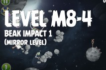 Angry Birds Space Beak Impact Mirror Level M8-4 Walkthrough