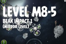 Angry Birds Space Beak Impact Mirror Level M8-5 Walkthrough