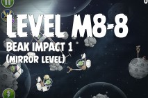 Angry Birds Space Beak Impact Mirror Level M8-8 Walkthrough