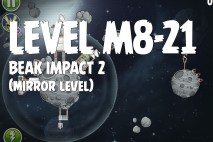 Angry Birds Space Beak Impact Mirror Level M8-21 Walkthrough