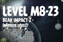 Angry Birds Space Beak Impact Mirror Level M8-23 Walkthrough