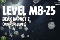 Angry Birds Space Beak Impact Mirror Level M8-25 Walkthrough