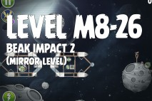 Angry Birds Space Beak Impact Mirror Level M8-26 Walkthrough