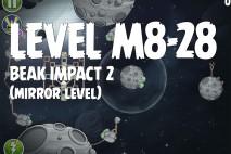 Angry Birds Space Beak Impact Mirror Level M8-28 Walkthrough
