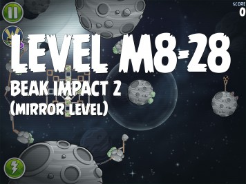 Angry Birds Space Beak Impact 2 Level M8-28