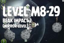 Angry Birds Space Beak Impact Mirror Level M8-29 Walkthrough