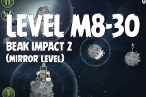 Angry Birds Space Beak Impact Mirror Level M8-30 Walkthrough