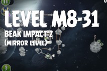 Angry Birds Space Beak Impact Mirror Level M8-31 Walkthrough