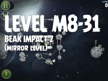 Angry Birds Space Beak Impact 2 Level M8-31