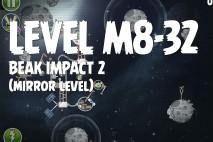 Angry Birds Space Beak Impact Mirror Level M8-32 Walkthrough