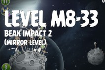 Angry Birds Space Beak Impact Mirror Level M8-33 Walkthrough