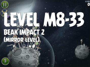 Angry Birds Space Beak Impact 2 Level M8-33