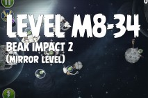 Angry Birds Space Beak Impact Mirror Level M8-34 Walkthrough