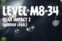 Angry Birds Space Beak Impact Mirror Level M8-34 Walkthrough