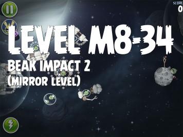 Angry Birds Space Beak Impact 2 Level M8-34