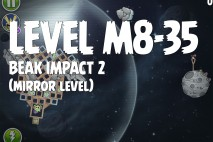 Angry Birds Space Beak Impact Mirror Level M8-35 Walkthrough