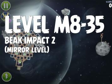 Angry Birds Space Beak Impact 2 Level M8-35