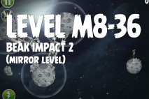 Angry Birds Space Beak Impact Mirror Level M8-36 Walkthrough