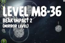 Angry Birds Space Beak Impact Mirror Level M8-36 Walkthrough