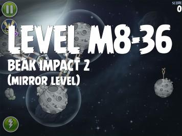 Angry Birds Space Beak Impact 2 Level M8-36