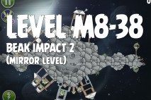 Angry Birds Space Beak Impact Mirror Level M8-38 Walkthrough