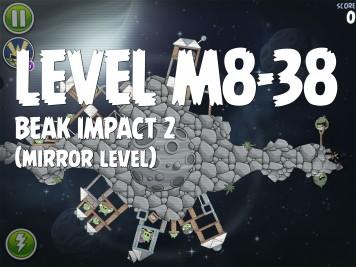 Angry Birds Space Beak Impact 2 Level M8-38