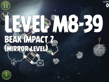 Angry Birds Space Beak Impact 2 Level M8-39