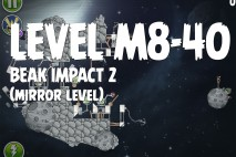 Angry Birds Space Beak Impact Mirror Level M8-40 Walkthrough