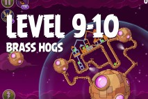 Angry Birds Space Brass Hogs Level 9-10 Walkthrough