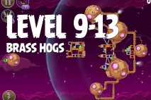 Angry Birds Space Brass Hogs Level 9-13 Walkthrough