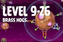Angry Birds Space Brass Hogs Level 9-26 Walkthrough