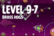 Angry Birds Space Brass Hogs Level 9-7 Walkthrough